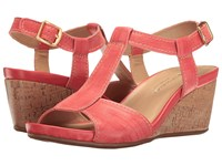 Naturalizer Camilla Punch Plaid Embossed Leather Women's Slip On Shoes Pink