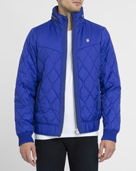 G Star Blue Meefic Quilted Hdd Hooded Down Jacket