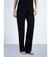 Hanro Deluxe Cotton Jersey Pyjama Bottoms Black