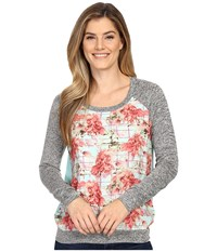 Kut From The Kloth Yalitza Printed Floral Top Mint Women's Long Sleeve Pullover Green
