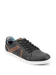 Ben Sherman Round Toe Lace Up Sneakers Black