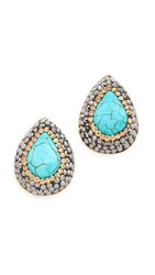 Native Gem Everyday Stud Earrings Turquoise Gold