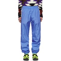 Moncler 2 1952 Blue Nylon Casual Track Pants