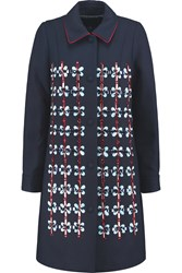 Mother Of Pearl Kipling Embellished Wool Blend Coat Blue