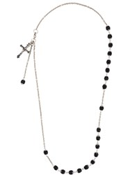 Givenchy Rosary Bead Necklace Black