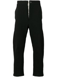 Cedric Jacquemyn Cropped Slim Fit Trousers Black
