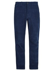 Saturdays Surf Nyc Field Relaxed Leg Cotton Corduroy Trousers Navy