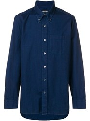 Tom Ford Pointed Collar Shirt Blue