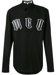 Mcq By Alexander Mcqueen Gothic Applique Logo Shirt Men Cotton 52 Black