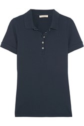 Burberry Brit Stretch Cotton Pique Polo Shirt Midnight Blue