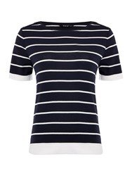 Tigi Short Sleeve Striped Top Navy