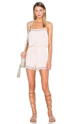 House Of Harlow X Revolve Nora Lace Detail Romper Blush
