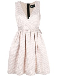 Marco Bologna Striped Textured Dress Pink And Purple