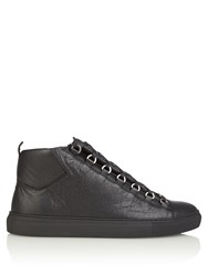 Balenciaga Arena High Top Leather Trainers Black