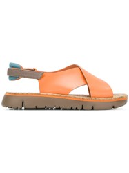 Camper Oruga Sandals Yellow And Orange
