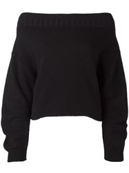 Opening Ceremony Off Shoulder Jumper Black