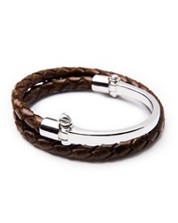 Miansai Half Cuff With Woven Bracelet Brown