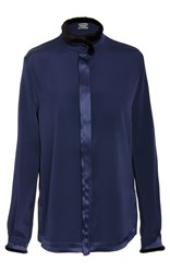 Alexis Mabille Long Sleeve Blouse Navy