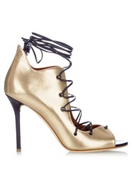 Malone Souliers Savannah Lace Up Leather Sandals