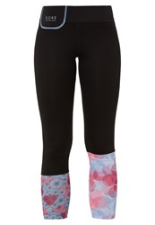 Gore Running Wear Sunlight Tights Black Jazzy Pink