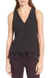 Trouve Women's Feather Trim Tank