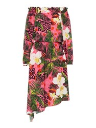Biba Off Shoulder Printed Dress Multi Coloured Multi Coloured