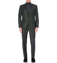 Richard James Basket Weave Wool Suit Charcoal