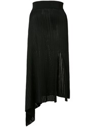 Cushnie Et Ochs Asymmetric Ribbed Skirt Black