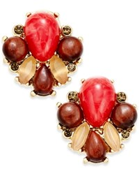 Kate Spade New York Gold Tone Stone Cluster Stud Earrings Multi