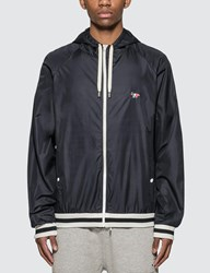 Maison Kitsune Hooded Windbreaker Blue
