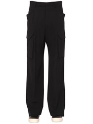 Rick Owens Tailored Wool Drill Cargo Pants