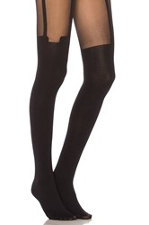 Pretty Polly House Of Holland Super Suspender Tights Black