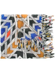Barbara Bui Printed Scarf Women Silk Cashmere One Size