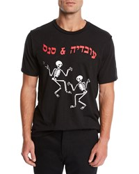 Ovadia And Sons Dancing Skeleton Graphic T Shirt Black