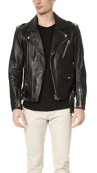 3.1 Phillip Lim Moto Jacket With Multi Zip Pocket Black