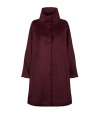 Eileen Fisher Stand Collar Coat Female Purple