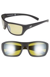 Men's Kaenon 'Kanvas' 59Mm Polarized Sunglasses Matte Black Yellow Y35