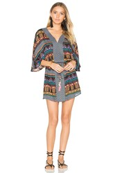 Seafolly Bead Folk Caftan Black