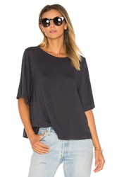 Velvet By Graham And Spencer Marina Linen Tee Black