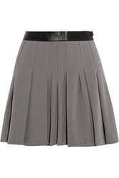 W118 By Walter Baker Barlow Pleated Crepe Mini Skirt Gray