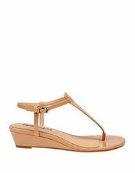 Splendid Justin T Strap Wedge Sandals Nude
