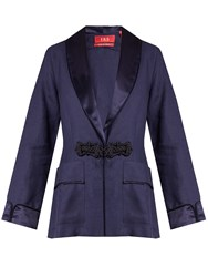 F.R.S For Restless Sleepers Armonia Linen Jacket Navy