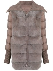 Liska Padded Coat Grey