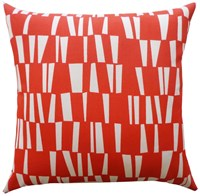 Jiti Angles Outdoor Pillow Red 12 X 20