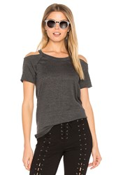 Chaser Cold Shoulder Raglan Tee Charcoal