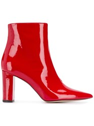 Marc Ellis Pointed Toe Ankle Boots Red