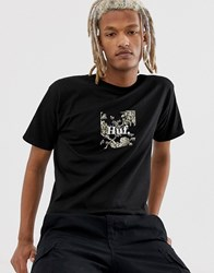 Huf Highline Box Logo T Shirt In Black