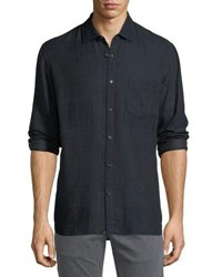 Billy Reid John T Cotton Sport Shirt Navy