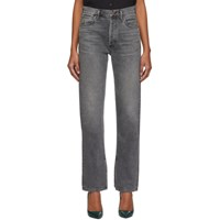 Citizens Of Humanity Grey Campbell High Rise Relaxed Straight Long Jeans