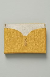 Anthropologie Yarrow Card Case Yellow Mustard
